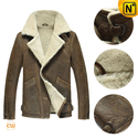 Classic Sheepskin Leather Bomber Jacket CW878397