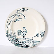 French Vintage ironstone Rooster Plate