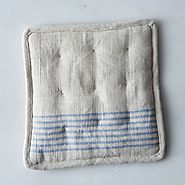 Agrarian Striped Linen Potholder
