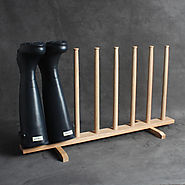 Solid Oak Wellies Rack Made in UK