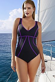 Tropiculture Cannes Control Bodice Swimsuit $24.98 (reg. $88) @ Swimsuits For All