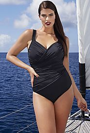 Tropiculture Black Control Swimsuit $24.98 (reg. $98) @ Swimsuits For All