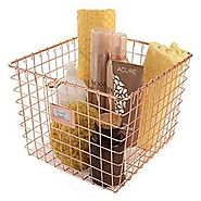 Wire Storage Basket Copper