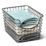Scoop Storage Basket Industrial Gray