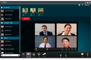 Cloud axis shoot of polycom