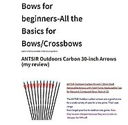 "Need great Lightweight 30"" Carbon Arrows?"