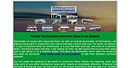 Finding The Exclusive Auto Body Shop In Los Angeles.pdf