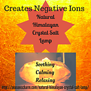 Natural Himalayan Crystal Salt Lamp • Seasons Charm