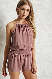 High Neck Cami Romper $14.90 @ Forever 21