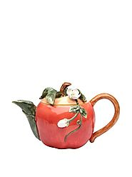 CG 801-47 Apple Shaped Teapot with White Blossom top