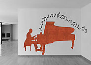 Pianist Fabric Wall Decoration