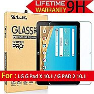 LG G Pad X 10.1 / G PAD 2 10.1 Screen Protector, AnoKe (0.3mm 9H Hardness) Tempered Glass Screen Protector For LG G P...