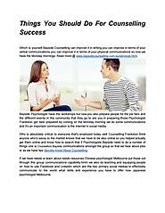 Things You Should Do For Counselling Success