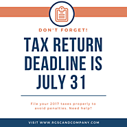 Tax RETURN Deadline Is July 31 – Social Media by Chartered Accountants
