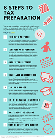 8 STEPS TO TAX PREPARATION – Infographic by RGSC & Company