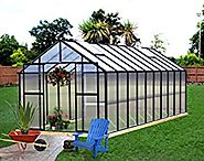 Monticello MONT-20-BK Greenhouse, 8' x 20', Black