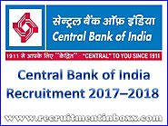 Central Bank of India Recruitment