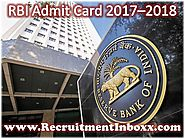 RBI Admit Card