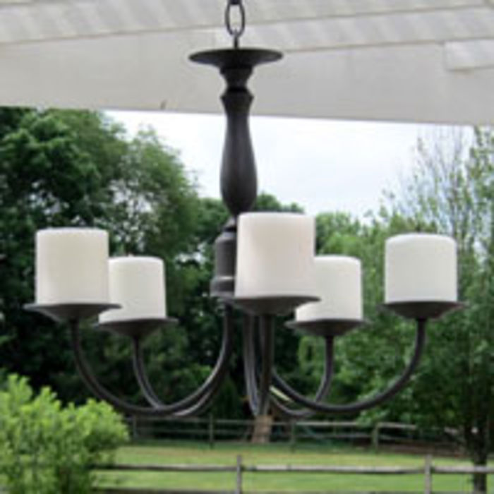How To Make An Outdoor Candle Chandelier Inmyownstyle