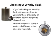 Choosing a Whisky Flask