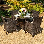 Rattan Garden Dining Sets | Rattan Outdoor Furniture | Zebrano