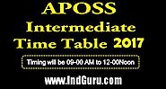 Check APOSS Intermediate Time Table 2017–18 | Class 12th Exam Date Sheet PDF Online