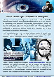 The Real Reason Behind Sydney Private Investigator