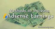 11 Proven Methods to Increase Google Adsense Earnings - Dot Com Only