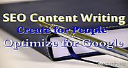 SEO Content Writing Write For People Optimize for Google - Dot Com Only