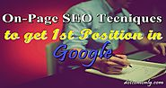 On-Page SEO Techniques to Rank First on Google Search - Dot Com Only