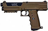 Tippmann TPX TiPX Paintball Pistol Marker with Case and 2 Clips - Coyote Brown