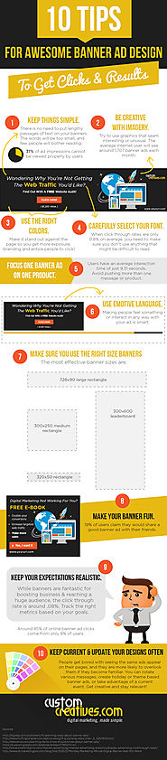 INFOGRAPHIC: 10 Tips for Awesome Banner Ad Design