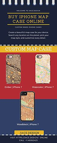 Buy Iphone Map Case Online from Jace.design