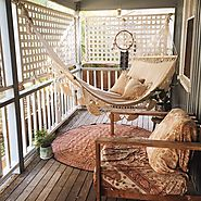 #5 How about this cozy boho spot?
