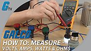 How To Measure Volts, Amps, Watts, & Ohms with a Multimeter