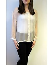 Get Ivory Evening Top Exquisite at Affordable Price