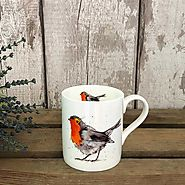 Robin Mug - Fine Bone China