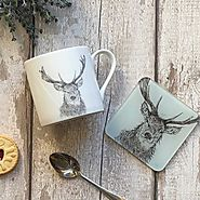 Stag Mug & Coaster Set
