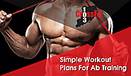 Simple Workout Plans For Ab Training