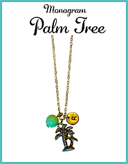 Custom Monogram Palm Tree Necklaces