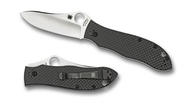 Spyderco Gayle Bradley Folder Carbon Fiber PlainEdge Knife