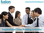 Inspirational team building activities fusion teambuilding