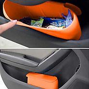 Portable Silicone Car Mini Dustbin for any cars' door pockets
