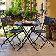 Best-Rated Folding Outdoor Patio Bistro Sets - Reviews ::Patio-furniture-accessories