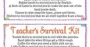 Simply Made...with Love: Teacher's Survival Kit