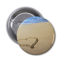 Heart in Sand Pin from Zazzle.com