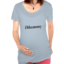 iMommy Women's Maternity T-Shirt blue from Zazzle.com