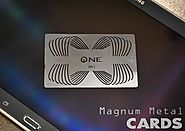 Metal Business Cards Offering Your Business Face - Magnum Metal Cards