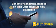 Benefit of Sending Messages On Time: Just Schedule it by BirdsBeep