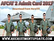 AFCAT 2 Admit Card